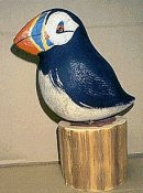 Richard Morgan bird carving - puffin