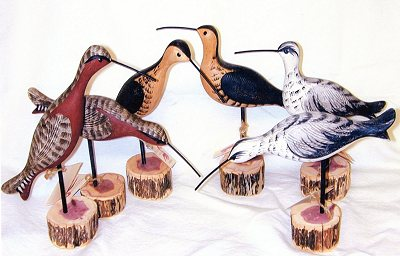 Richard Morgan handcarved birds - shorebirds