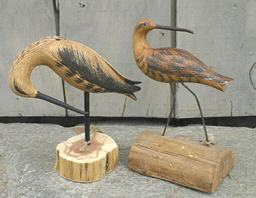 Carved shorebird
